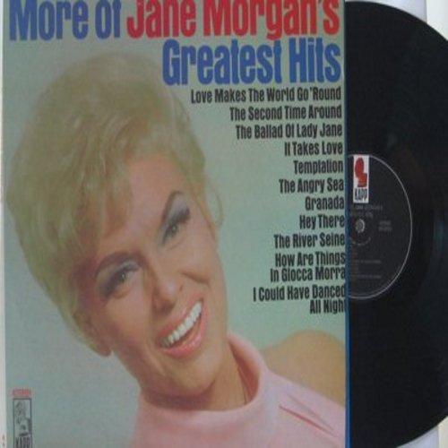 Morgan, Jane - More Of Jane Morgan's Greatest Hits: Temptation, Hey There, Granada, The River Seine, How Are Things In Glocca Morra, I Could Have Danced All Night (Vinyl STEREO LP record) - M10/EX8 - LP Records