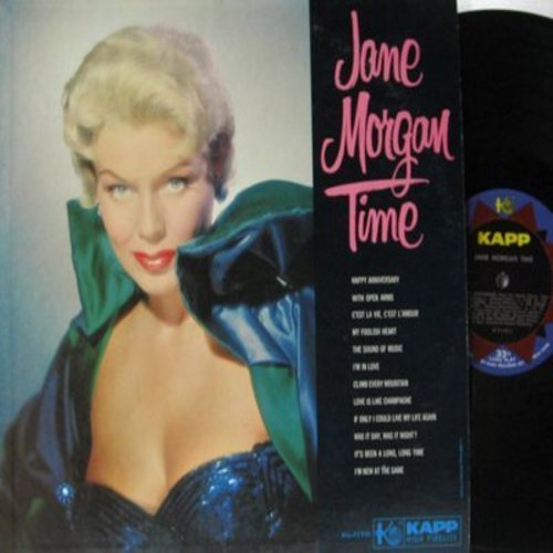 Morgan, Jane - Jane Morgan Time: With Open Arms, The Sound Of Music, Climb Every Mountain, It's Been A Long Long Time (Vinyl MONO LP record) - NM9/NM9 - LP Records
