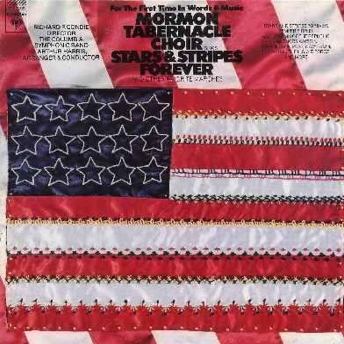 Mormon Tabernacle Choir - Stars & Stripes Forever and other Favorite Marches: Hail To The Chief, Anchors Aweigh, King Cotton, Battle Hymn Of The Republic, The U.S. Air Force, El Capitan (Vinyl MONO LP record, gate-fold cover 1973 first issue) - NM9/NM9 -