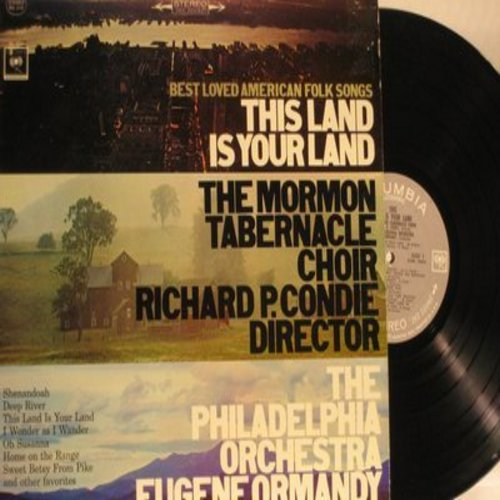 Mormon Tabernacle Choir - This Land Is Your Land - Best Loved American Folk Songs: Shenandoah, Oh Susanna, Home On The Range, Deep River (vinyl STEREO LP record) - NM9/NM9 - LP Records