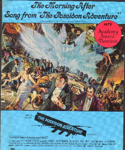 McGovern, Maureen - The Morning After (From The Poseidon Adventure - 1973 Oscar Winner Best Song!) - Vintage SHEET MUSIC - VG7/ - 45 rpm Records
