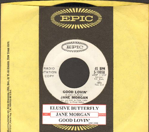 Morgan, Jane - Elusive Butterfly/Good Lovin' (DJ advance pressing with juke box label and Epic company sleeve) - NM9/ - 45 rpm Records