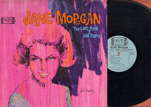 Morgan, Jane - The Last Time I Saw Paris: Dominique, C'est Si Bon, La Vie En Rose, The Poor People Of Paris (Vinyl STEREO LP record) - NM9/EX8 - LP Records
