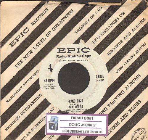 Morris, Doug - Frigid Digid/The Drummerboy From Gen'ral Lee (RARE DJ advance pressing with juke box label and Epic company sleeve) - NM9/ - 45 rpm Records