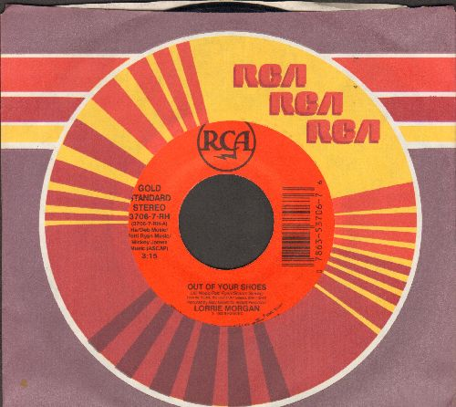 Morgan, Lorrie - Out Of Your Shoes/Dear Me (with RCA company sleeve) - EX8/ - 45 rpm Records