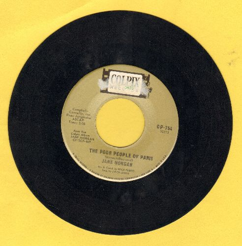 Morgan, Jane - The Poor People Of Paris/Funny World - EX8/ - 45 rpm Records
