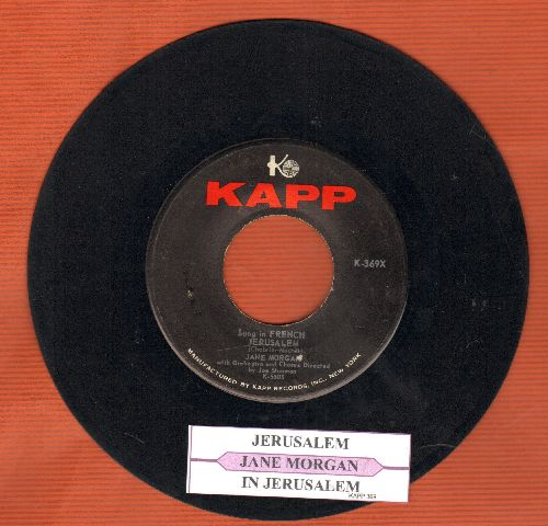 Morgan, Jane - Jerusalem (French and English version) (with juke box label, sol) - EX8/ - 45 rpm Records
