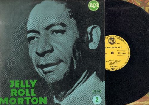 Morton, Jelly Roll - Jelly Roll Morton (Vol. 2): Beale St. Blues, Fat Frances, Boogaboo, Mississippi Mildred (vinyl LP record, 1962 French pressing of vintage recordings) - NM9/EX8 - LP Records