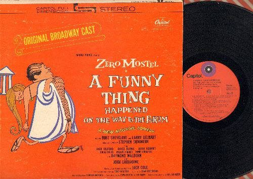 A Funny Thing Happened On The Way To The Forum - A Funny Thing Happened On The Way To The Forum - Original Broadway Cast Recording starring Zero Mostel (Vinyl STEREO LP record) - EX8/VG7 - LaserDiscs
