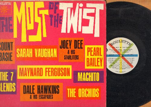 Dee, Joey & The Starliters, Pearl Bailey, Sarah Vaughan, Orchids, others - The Most Of The Twist: Hip Twist, The Basie Twist, Shout (Parts 1 + 2), Peppermint Twist (vinyl LP record) - EX8/VG6 - LP Records