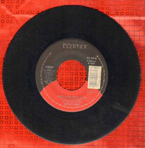 Motley Crue - Girls, Girls, Girls/Sumthin' For Nuthin' (with juke box label) - EX8/ - 45 rpm Records