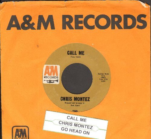 Montez, Chris - Call Me/Go Head On (with A&M company sleeve and juke box label) - NM9/ - 45 rpm Records