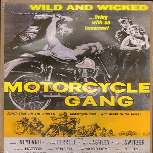 Motorcycle Gang Movie Poster - Motor Cycle Gang - Full Color 16 x 10.5 inch reproduced Movie Poster of 1950s Cult Film - GREAT for framing!  - NM9/ - Poster