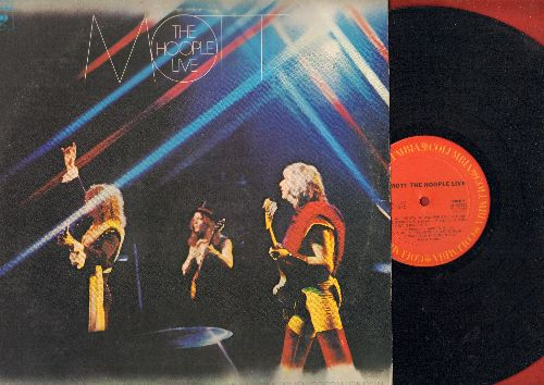 Mott The Hoople - Mott The Hoople LIVE: All The Young Dudes, Sucker, Whole Lotta Shakin', Rock'n'Roll Queen (Vinyl STEREO LP record) - NM9/VG7 - LP Records