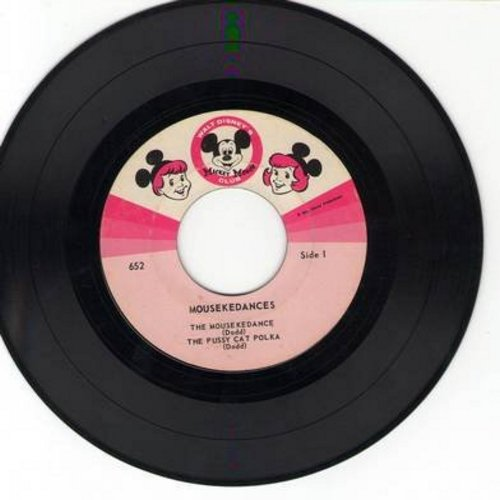 Disney - Mousekedances: The Mousekedance/Pussy Cat Polka/Merry Mouseketeers/Hey, Cubby Boy (Vinyl EP record, no picture cover) - VG7/ - 45 rpm Records