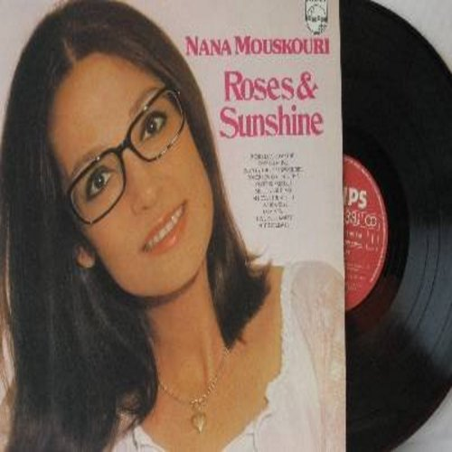 Mouskouri, Nana - Roses & Sunshine: Love Is A Rose, Even Now, Autumn Leaves, Sweet Surrender, Roses Love Sunshine (Vinyl STEREO LP record) - VG7/VG7 - LP Records