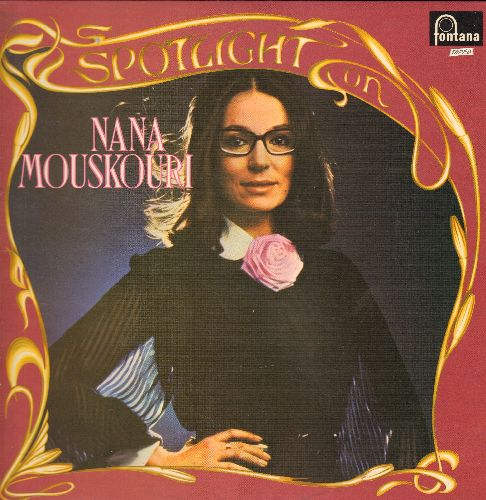 Mouskouri, Nana - Spotlight On: White Rose Of Athens, Never On Sunday, Morning Has Broken, Both Sides Now, Imagine (2 STEREO LP records, Brith Pressing, gate-fold cover) - NM9/NM9 - LP Records