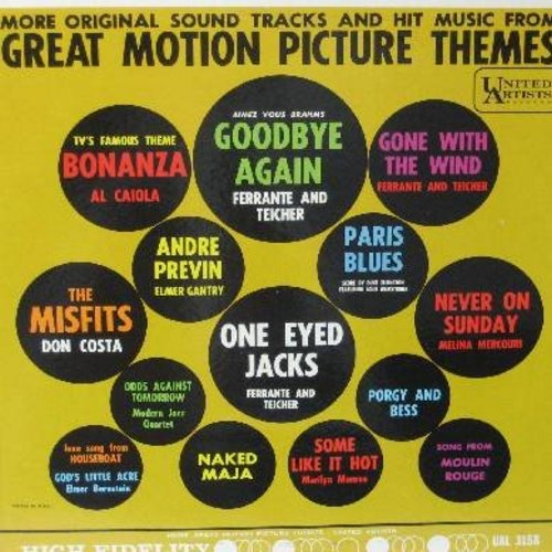 Lai, Francis, John Barry, Ferrante & Teicher, others - Great Motion Picture Themes - Volume 2: A Man And A Woman, Tara Theme, In The Heat Of The Night, You Only Live Twice, Alfie, For A Few Dollars More (Vinyl STEREO LP record) - NM9/NM9 - LP Records
