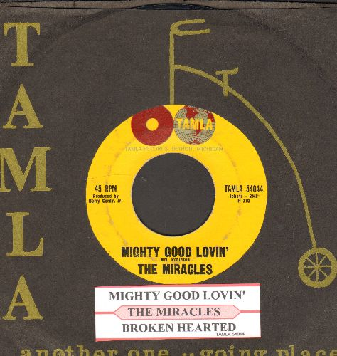 Miracles - Mighty Good Loving/Broken Hearted (with juke box label and vintage Motown company sleeve) - EX8/ - 45 rpm Records