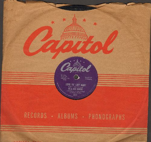 Morse, Ella Mae - Oakie Boogie/Love Ya' Like Mad! (10 inch 78 rpm record with vintage Capitol company sleeve) - EX8/ - 78 rpm
