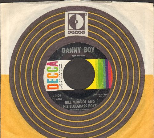 Monroe, Bill & His Blue Grass Boys - Danny Boy/Toy Heart  (RARE vintage Country-Blue Grass two-sider with Decca company sleeve) - EX8/ - 45 rpm Records