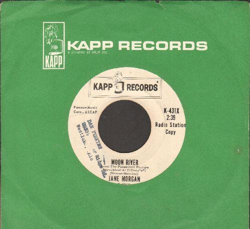 Morgan, Jane - Moon River/Blue Hawaii (DJ advance pressing with vintage Kapp company sleeve)(wol) - NM9/ - 45 rpm Records