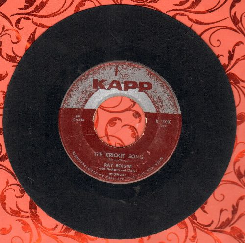 Bolger, Ray - The Cricket Song (ENCHANTING Novelty!)/Once In Love With Amy (wol) - G5/ - 45 rpm Records
