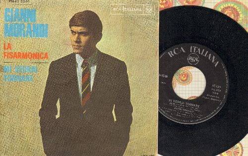 Morandi, Gianni - Mi Vedrai Tornare/La Fisarmonica (Italian Pressing with picture sleeve, sung in Italian) - EX8/NM9 - 45 rpm Records