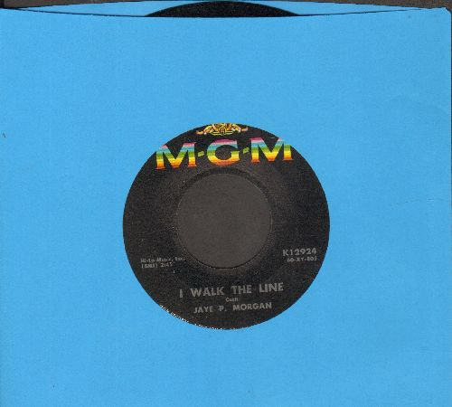 Morgan, Jaye P. - I Walk The Line/Wondering Where You Are - NM9/ - 45 rpm Records