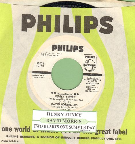 Morris, David Jr. - Hunky Funky/Two Hearts One Dummer Day (DJ advance pressing with juke box label and Philips company sleeve) - M10/ - 45 rpm Records