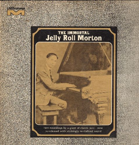 Morton, Jelly Roll - The Immortal: Froggy Moore, Mamanita, Big Fat Ham, High Socity, Steady Roll (vinyl LP record, 1967 issue of vintage Jazz Piano recordings) - NM9/EX8 - LP Records
