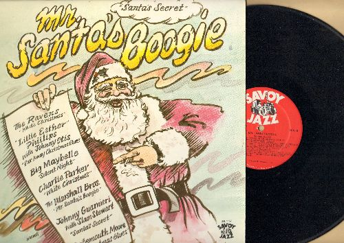 Ravens, Big Maybelle, Charlie Parker, Debbie Dabney, others - Mr. Santa's Boogie (Santa's Secret): White Christmas, I Want To Spend Christmas With Elvis, Christmas Blues (Vinyl LP record, re-issue of vintage R&B and Doo-Wop recordings) - NM9/NM9 - LP Reco