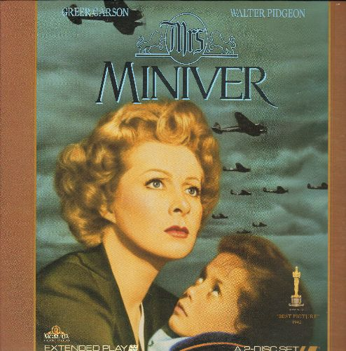 Mrs. Miniver - Mrs. Miniver - The 1942 Best Picture Oscar Winner on 2 LASERDISCS in gate-fold cover. - NM9/NM9 - LaserDiscs