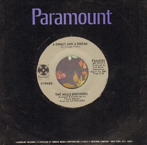 Mills Brothers - A Donut And A Dream/There's No Life On The Moon (with Paramount company sleeve) - EX8/ - 45 rpm Records