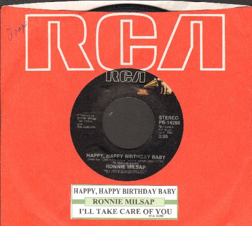 Milsap, Ronnie - Happy, Happy Birthday Baby/I'll Take Care Of You (with juke box label RCA company sleeve) - VG7/ - 45 rpm Records