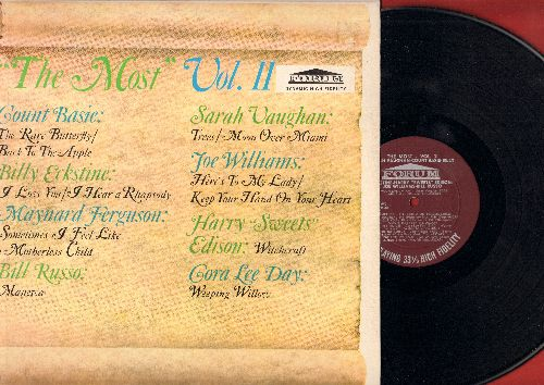 Vaughan, Sarah, Billy Eckstine, Count Basie, others - The Most - Vol. 2: Trees, Back To The Apple, Moon Over Miami, Here's To My Lady (Vinyl MONO LP record) - EX8/NM9 - LP Records