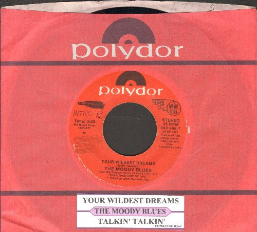 Moody Blues - Your Wildest Dreams/Talkin' Talkin' (with juke box label and Polydor company sleeve) - NM9/ - 45 rpm Records