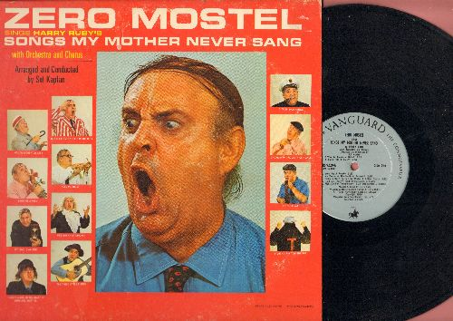 Mostel, Zero - Songs My Mother Never Sang: I Was An Incubator Baby, Three Little Fishes, God Bless Every State In The U.S.A. (Vinyl STEREO LP record) - NM9/VG7 - LP Records