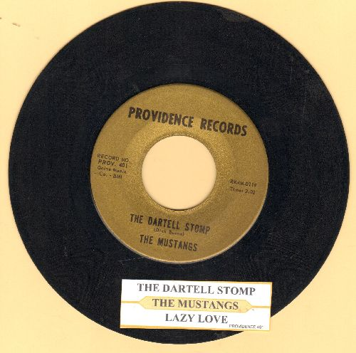 Mustangs - The Dartell Stomp/Lazy Love (with juke box label) - VG7/ - 45 rpm Records