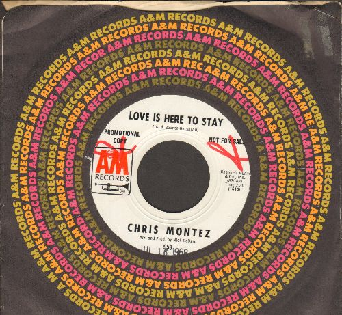 Montez, Chris - Love Is Here To Stay/Nothing To Hide (DJ advance pressing with A&M company sleeve) - NM9/ - 45 rpm Records