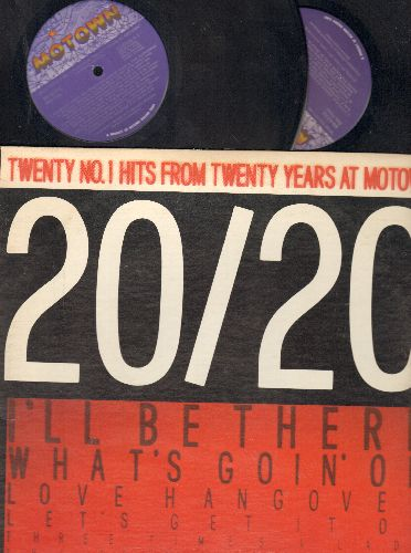 Supremes, Jackson 5, Stevie Wonder, others - 20/20 - Twenty No. 1 Hits From Twenty Years At Motown: What's Going On, I'll Be There, Superstition, Papa Was A Rolling Stone (2 vinyl LP records) - NM9/VG7 - LP Records
