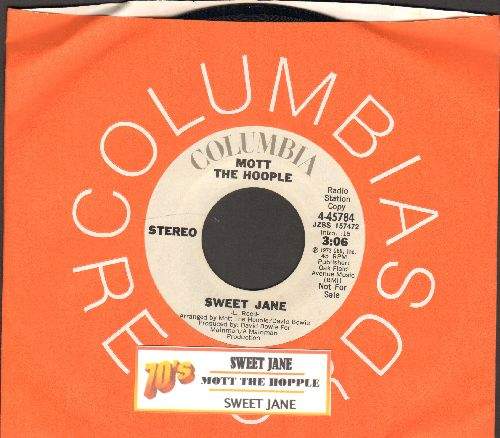 Mott The Hopple - Sweet Jane (double-A-sided DJ advance pressing with juke box label and Columbia company sleeve) - NM9/ - 45 rpm Records