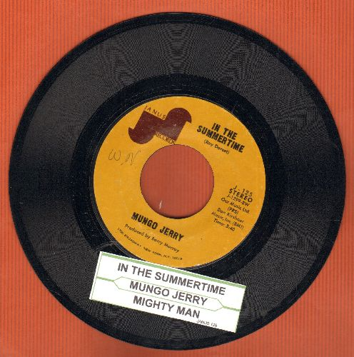 Mungo Jerry - In The Summertime/Mighty Man (with juke box label) - EX8/ - 45 rpm Records
