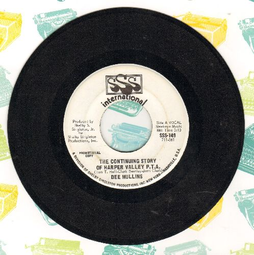Mullins, Dee - The Continuing Story Of Harper Valley P.T.A. (double-A-sided DJ advance pressing) - NM9/ - 45 rpm Records