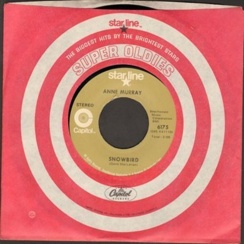 Murray, Anne - Snowbird/Put Your Hand In The Hand (double-hit re-issue) - NM9/ - 45 rpm Records