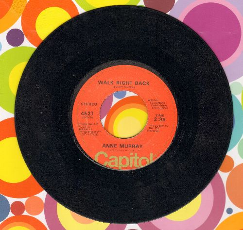 Murray, Anne - Walk Right Back/A Million More - VG6/ - 45 rpm Records