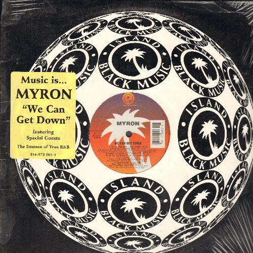 Myron - We Can Get Down - 12 inch vinyl Maxi Single featuring 4 Extended Tracks of the Hip Hop Classic, with original cover and still in shrink wrap! - NM9/NM9 - Maxi Singles