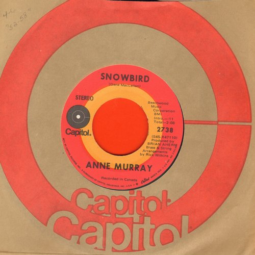 Murray, Anne - Snowbird/Just Bidin' My Time - NM9/ - 45 rpm Records