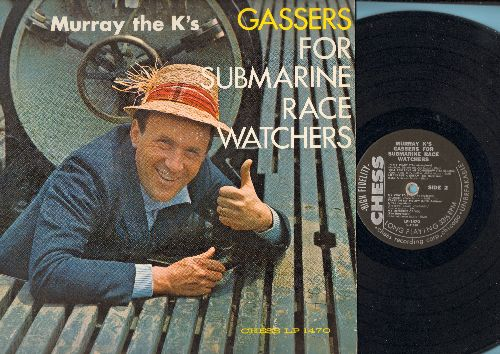 Murray The K. - Gassers For Submarine Race Watchers: Dedicated To The One I Love, Maybe, Tears On My Pillow, My Memories Of You (Vinyl MONO LP record, sampler of Original vintage Hit Recordings) - VG7/EX8 - LP Records