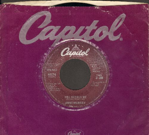 Murray, Anne - You Needed Me/I Still Wish The Very Best For You (with Capitol company sleeve) - NM9/ - 45 rpm Records